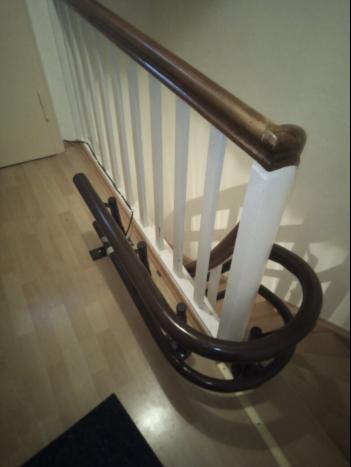 Treppenliftschiene Erweiterung der Treppenliftschiene